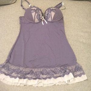 Lavender Ruffle Teddy